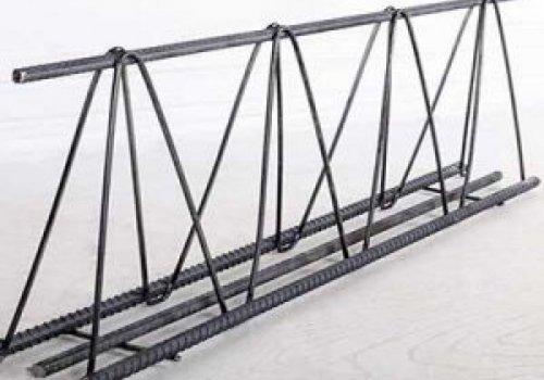 مشخصات خرپای میلگردی:  ۱- خرپا با ارتفاع حداقل ۱۰ سانتی متر و حداکثر ۳۵ سانتی متر(برای دهانه بالای