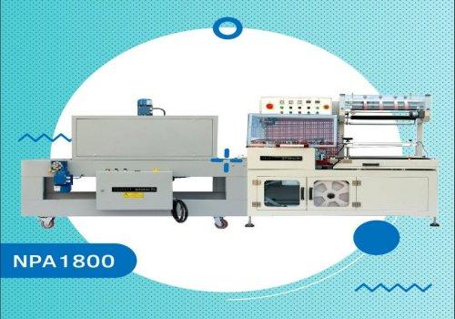 دستگاه بسته بندی دوخت L و تونل شرینک تمام اتومات تولید شرکت تحول کالای نوین با برند نادی پک ، مناسب