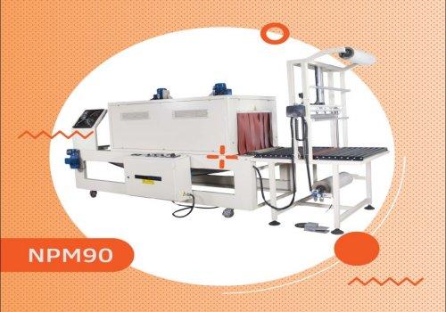 دستگاه بسته بندی شرینک تونلی پلی اتیلن مدل npm90  جهت بسته بندی انواع محصولات و کارتن های بالای 10 ک