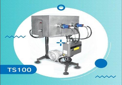 دستگاه بسته بندی تونل سشواری تولید شرکت تحول کالای نوین با برند نادی پک جهت لیبل انواع ظروف، قوطی و
